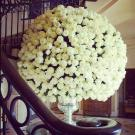 big bouquet of white roses
