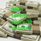3000tokens every 30minutes