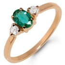 I want gold ring with brilliant and emerald )
