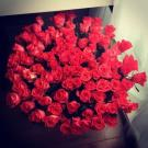 Big bouquet of roses