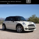 Little white mini cooper