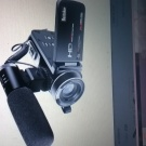 Portable Digital Video Camera with External Microphone