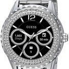 GUESS Women's Stainless Steel Android Wear Touch Screen Smart Watch, Color: Silver-Tone (Model: C1003L3)