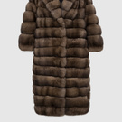 Brown sable fur coat