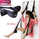 ZKF Sex Game Door Swing, Fetish Fantasy Series Sex Toys Comfortable Seat & Legs Pads Sling Swing (Black)