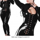 SIZE SMALL: TOOSD Underwear Latex Body Jumpsuit Clubwear Catsuit Perfect for Dance, Dress Up, Cosplay Role Play Party