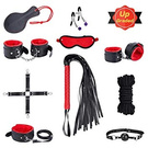 Restraints for Sex, 10 Pcs BDSM Toys Leather Bondage Sets Restraint Kits Sex Things for Couples Lovers Sex Games by Luvsex