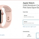 Apple Watch Gold Aluminum Case with Pink Sand Sport Band