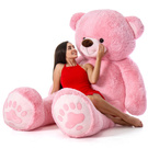 giant pink teddy