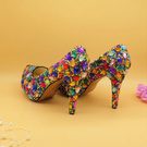 Multi colored Heels