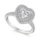 Tiffany Heart Halo Ring