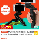 Live broadcast mini holder
