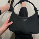 Prada Re-Edition 2005 Nylon Shoulder Bag Black