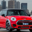 Red Mini cooper car