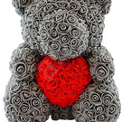Teddy bear made of roses