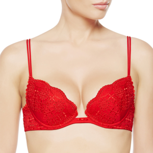 La Perla Sangallo Push-up Bra Red