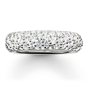 THOMAS SABO GLAM & SOUL BAND RING CRUSHED PAVÉ