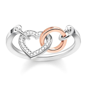 THOMAS SABO RING TOGETHER HEART DIAMOND