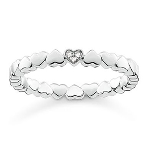 THOMAS SABO RING HEARTS SILVER