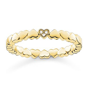 THOMAS SABO RING HEARTS YELLOW GOLD