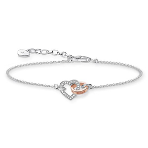THOMAS SABO BRACELET TOGETHER HEART DIAMOND