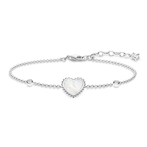 THOMAS SABO BRACELET HEART (WHITE)
