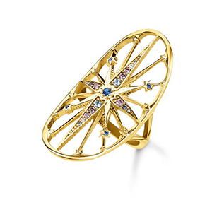THOMAS SABO RING ROYALTY STAR GOLD