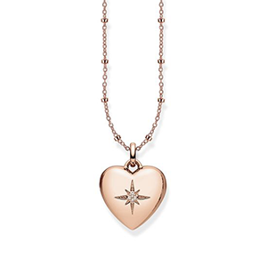 THOMAS SABO NECKLACE HEART LOCKET PINK