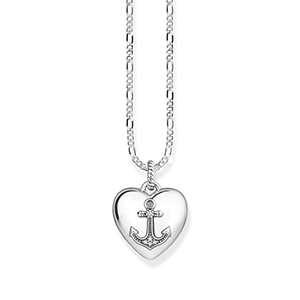 THOMAS SABO NECKLACE HEART LOCKET ANCHOR